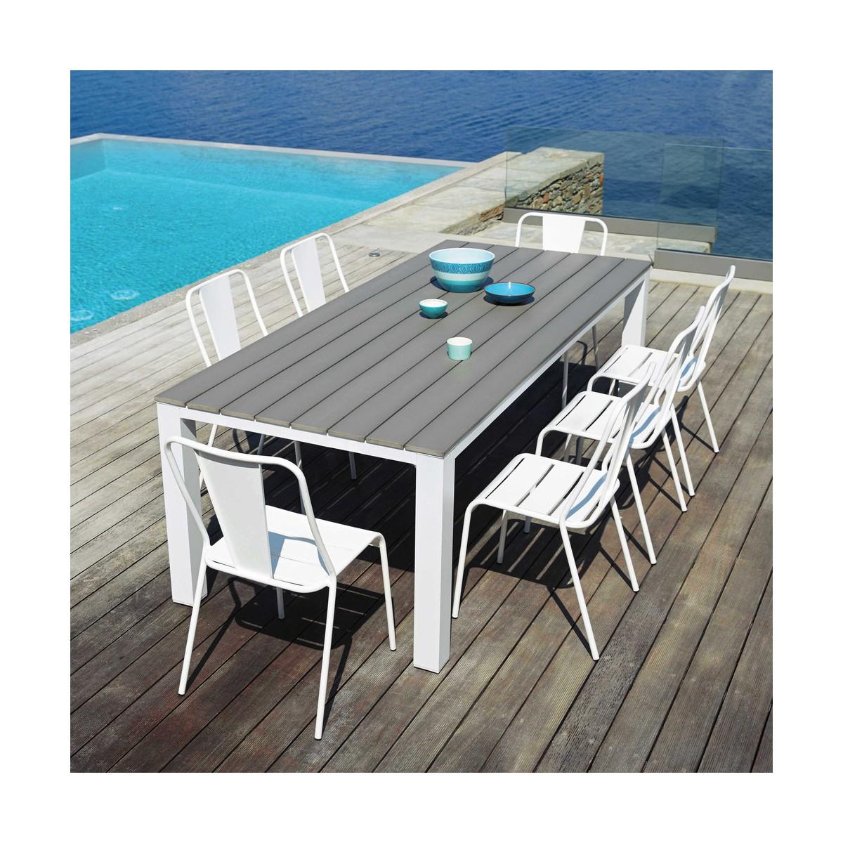Beautiful Table De Jardin Bois Carree Contemporary - Amazing House ...