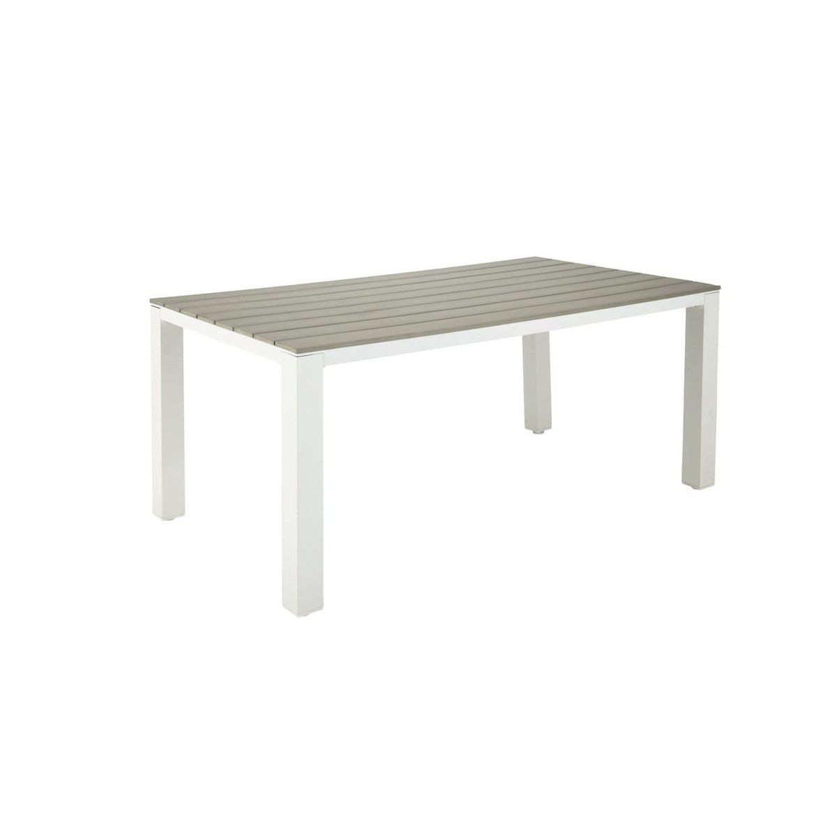 Beautiful Table De Jardin En Bois Et Aluminium Contemporary - House ...