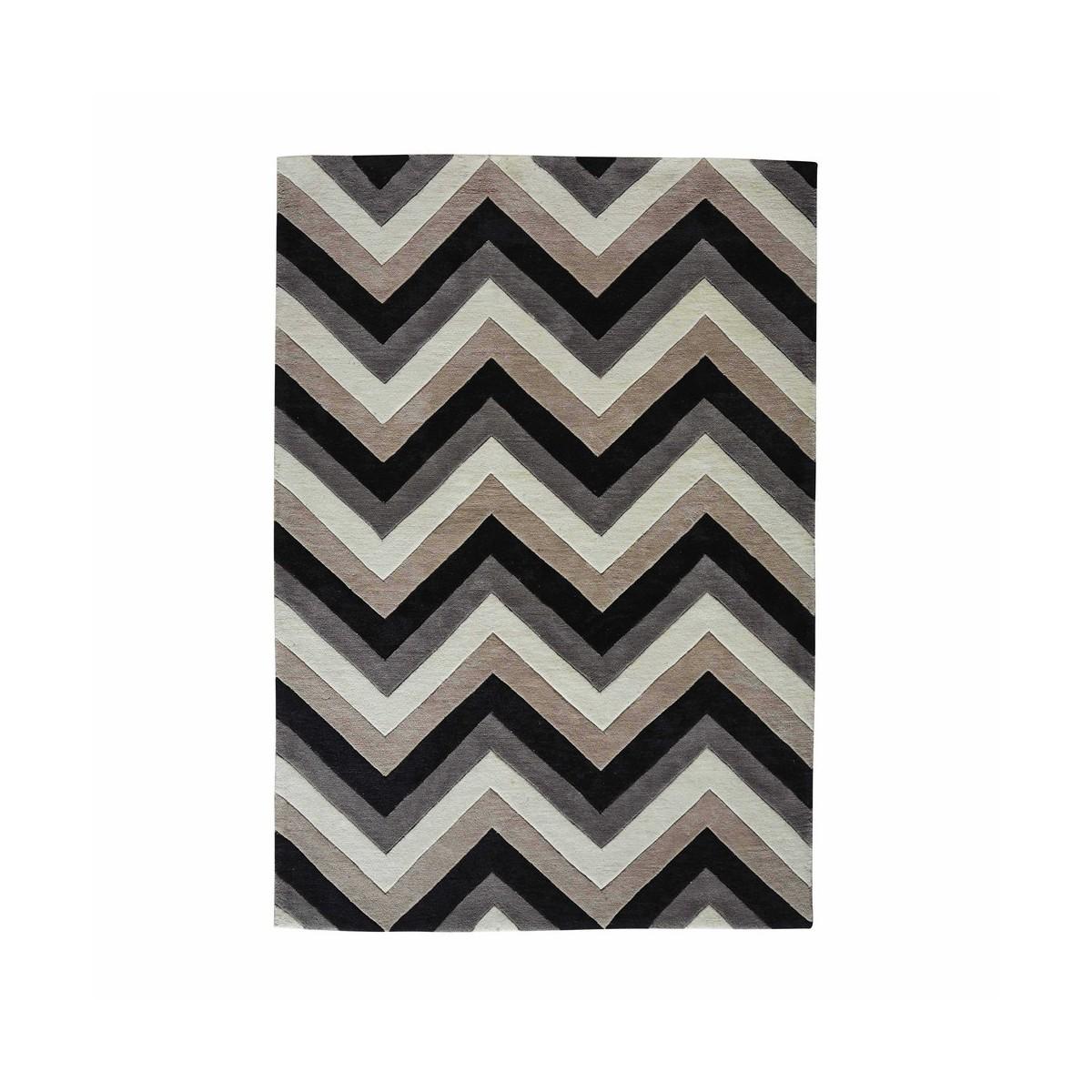 Carrelage Design tapis poil court : tapis-a-poils-courts-gris-noir-140-x-200-cm-urban-1000-12-36-147759_0