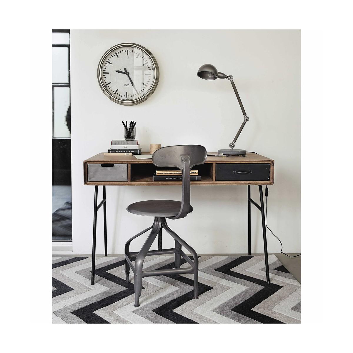 Carrelage Design tapis poil court : tapis-a-poils-courts-gris-noir-140-x-200-cm-urban-1000-12-36-147759_4