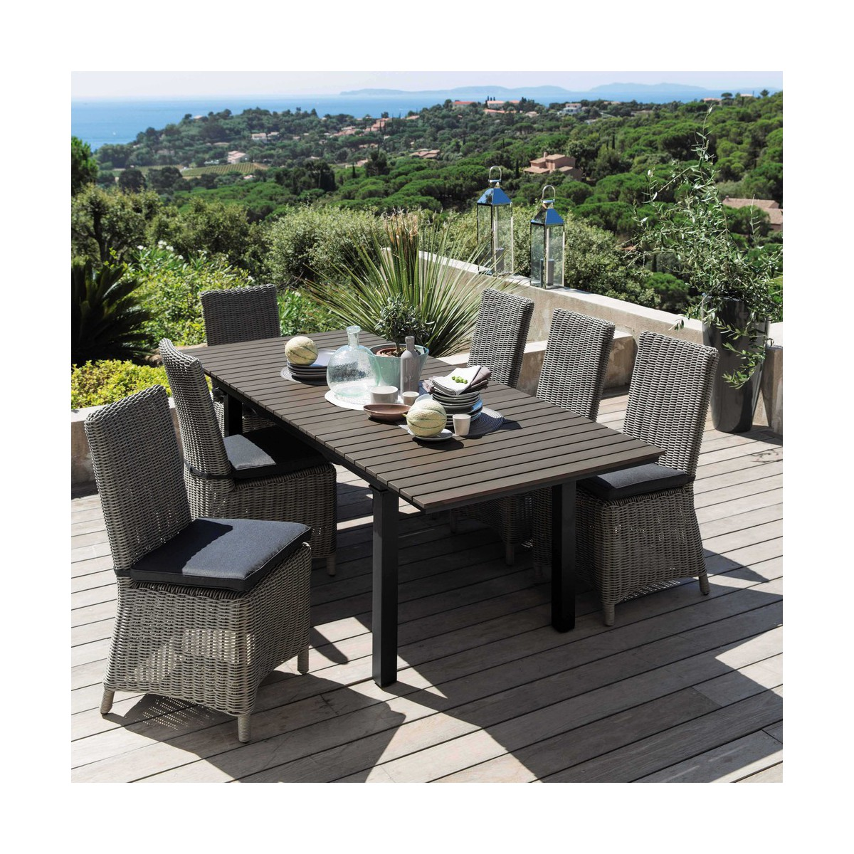 Salon De Jardin Alu Composite. Excellent Sduisant Table De Jardin ...