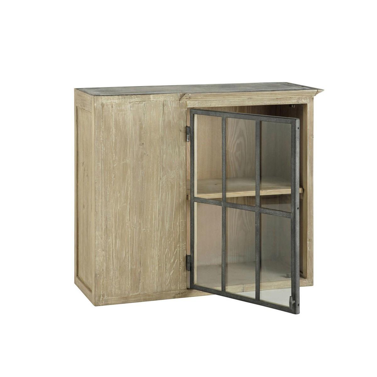 Great superior meuble haut vitre cuisine with meuble vitr for Casserolier leroy merlin