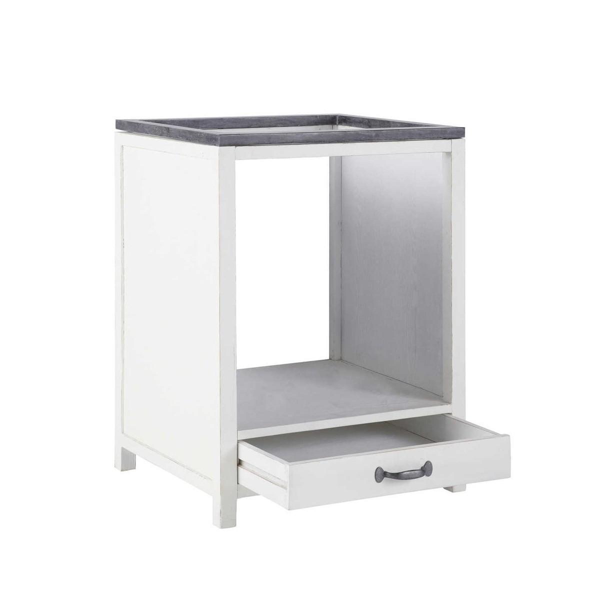 Finest meuble de cuisine maison du monde free meuble for Meuble zinc maison du monde