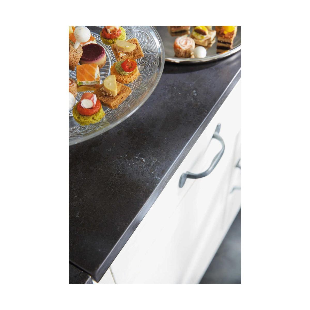 meuble bas de cuisine en bois recyclé blanc l 90 cm - Meuble Cuisine 90 Cm