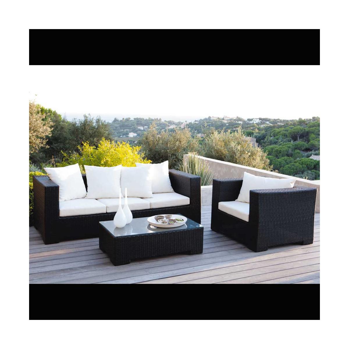 Table Basse De Salon De Jardin En Resine Tressee. Amazing Mobilier ...