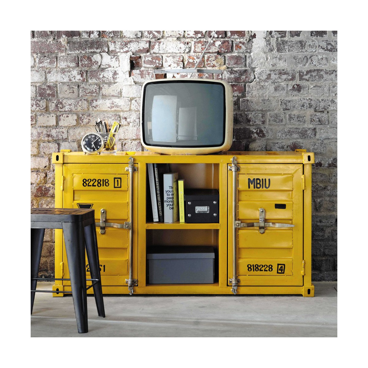 Meuble Jaune Frdesign Co # Meuble Tv Container