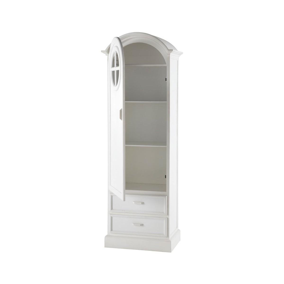 armoire bonneti re en bois blanc l 62 cm. Black Bedroom Furniture Sets. Home Design Ideas