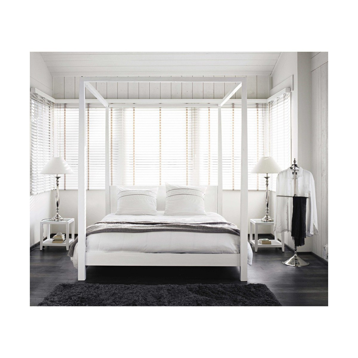 lit a baldaquin maison du monde latest from maisons du monde with lit a baldaquin maison du. Black Bedroom Furniture Sets. Home Design Ideas