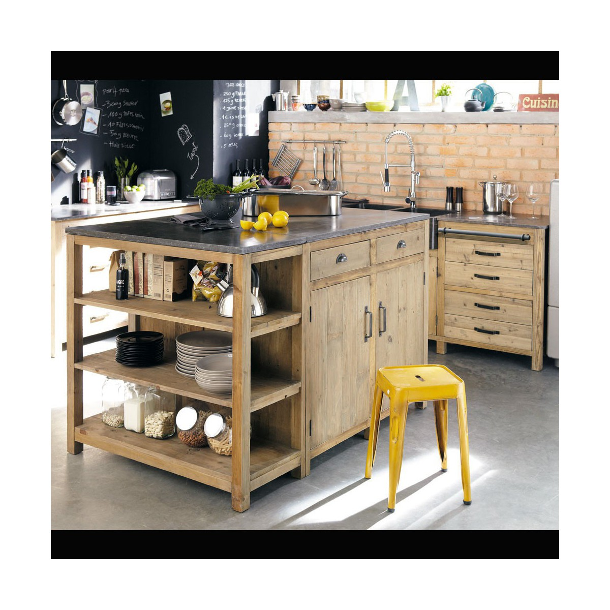 cuisine bois recycl id e int ressante pour la conception de meubles en bois qui inspire. Black Bedroom Furniture Sets. Home Design Ideas