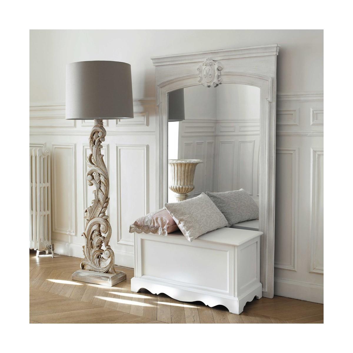 Maison du monde coiffeuse josephine stunning with maison for Miroir trumeau blanc