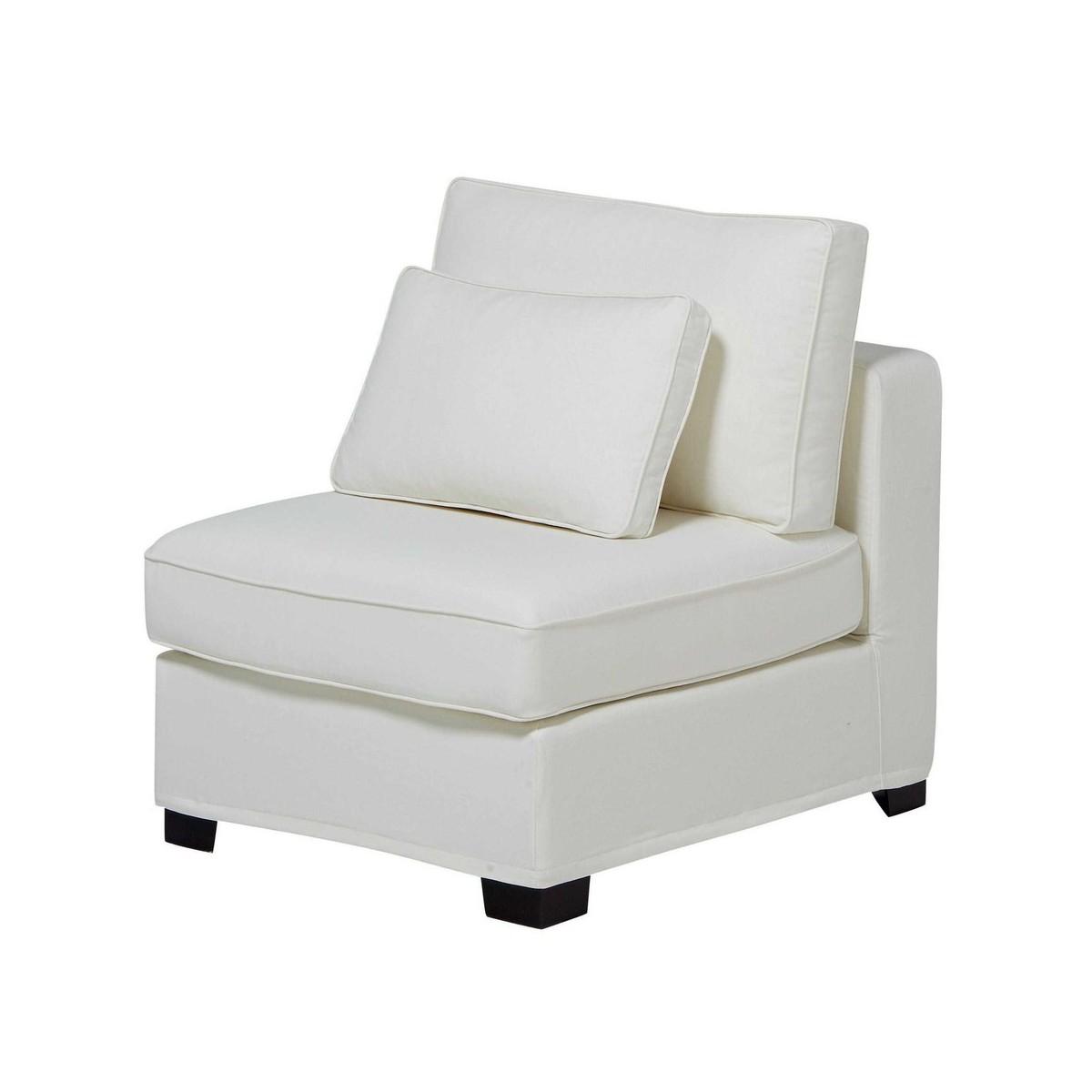 chauffeuse de canap modulable en coton ivoire. Black Bedroom Furniture Sets. Home Design Ideas