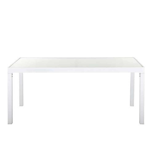 Table De Jardin Aluminium Blanc Et Verre Des Id Es Int Ressantes Pour La