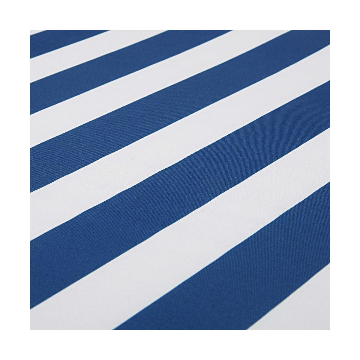 matelas de transat ray bleu et blanc 58x196cm escale. Black Bedroom Furniture Sets. Home Design Ideas