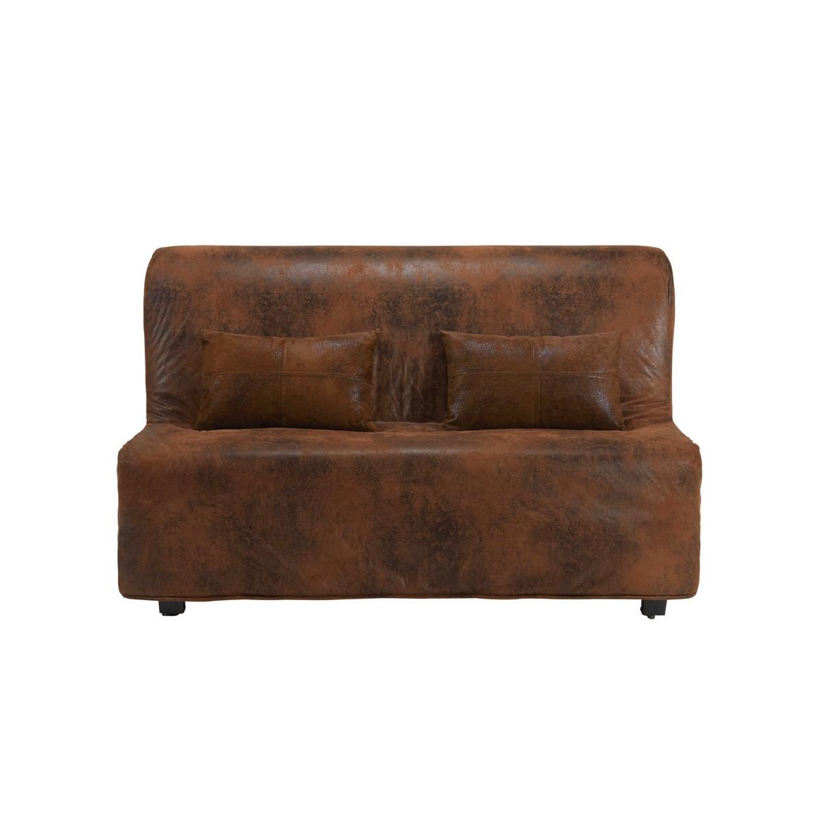 Housse de canap bz en microsu de marron - Housse canape bz 160x200 ...